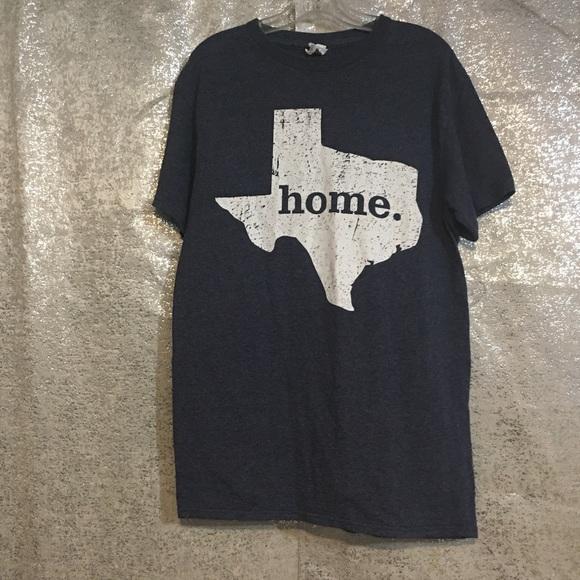 Delta Tops - Texas Tee Shirt Home Graphic